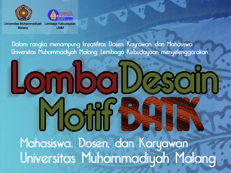 Motif Batik Design Competition Students, Lecture, and Employees